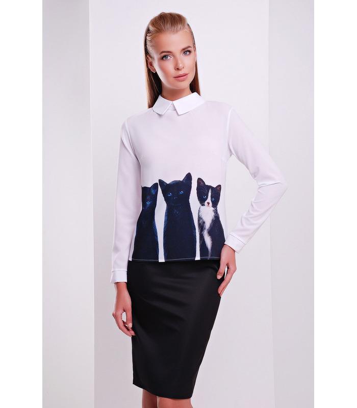 Блуза Міліна з котиками.
