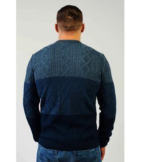Чоловічий в'язаний светр з градієнтом (06).