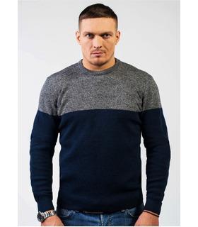 Чоловічий в'язаний светр двоколірний (04).