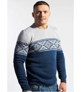 Чоловічий в'язаний светр з українським візерунком (02).