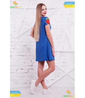Платье Фрукты-вышивка.
