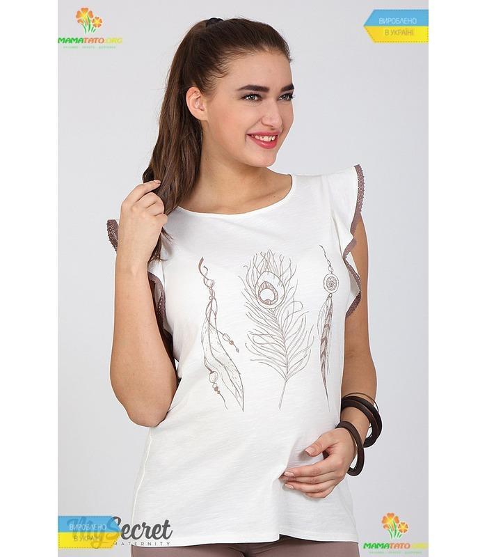 Блуза для вагітних Жаклін Пір'ячко.