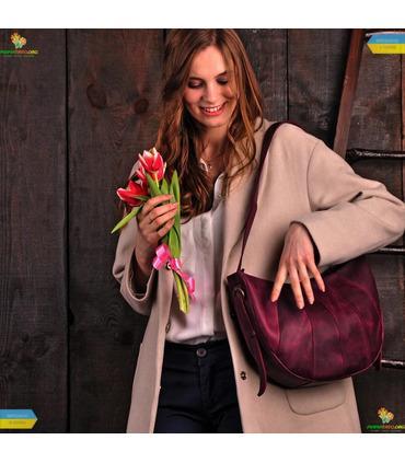 "Женская сумка ""Круассан""."