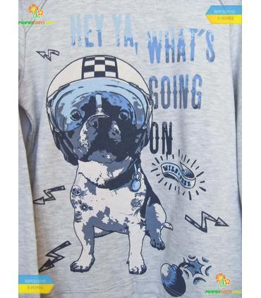"""Джемпер для мальчика """"Собака в каске"""" бол.(ФБ395) интерлок."""