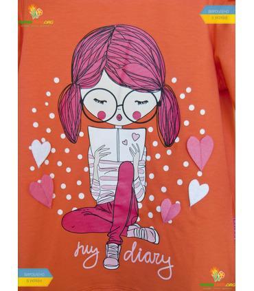 """Джемпер для дівчинки """"Щоденник"""" (ФБ387) супрем."""