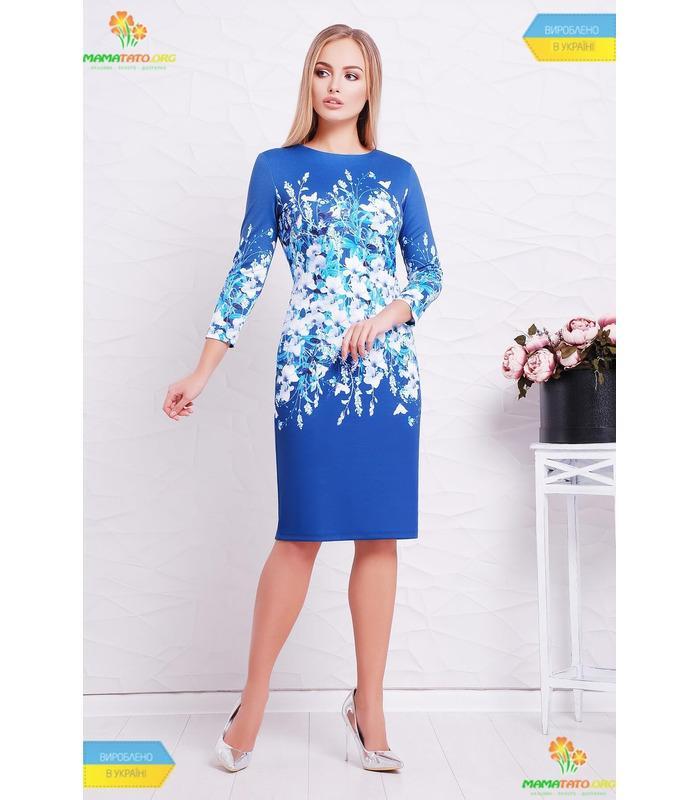 Платье Синие Цветы.
