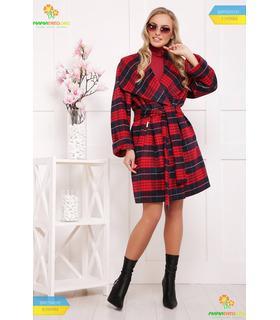 Пальто в клеточку (мод.П-350-90)