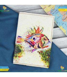 """Обкладинка для паспорта """"Морське дно"""""""