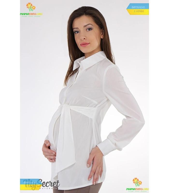 Класична стрейчева блуза Letti для вагітних.