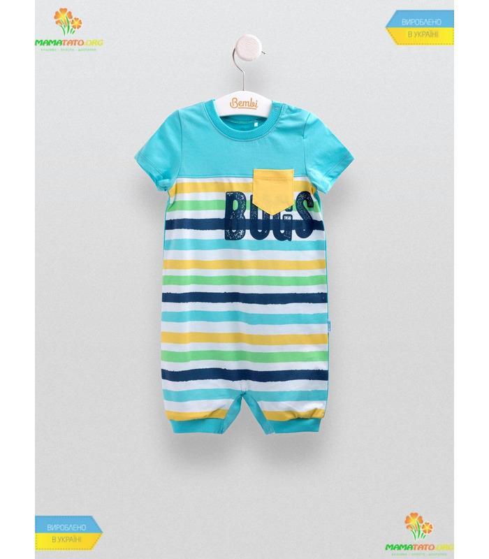 Полукомбинезон Полоска (ПК149) BL, летняя одежда детям