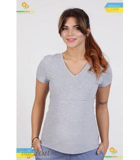 Футболка Іванна GR, сіра футболка для годуючих мам