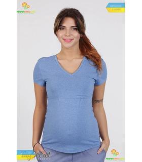 Футболка Іванна LB, блакитна футболка годування