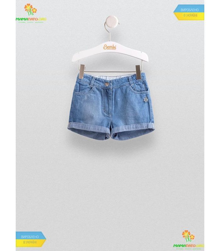 Джинсовые шорты для девочки ШР447, детские шорты джинс