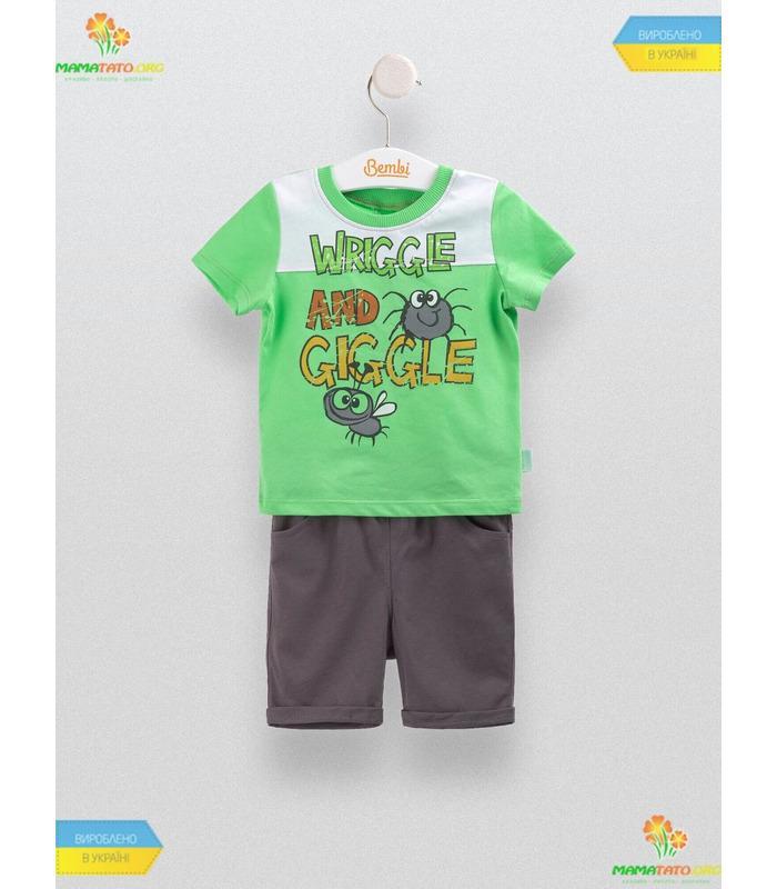 Костюм для мальчика КС552 GR, летние детские костюмы