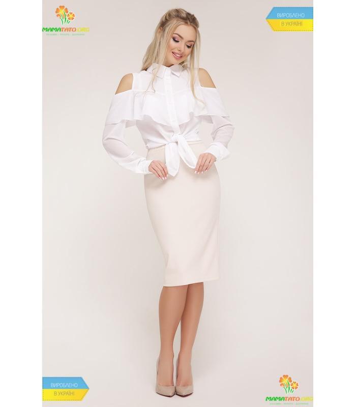 Блуза Джанина WH, белая шифоновая блузка
