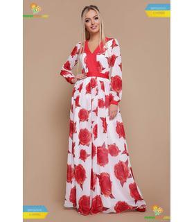 Платье Каролина Красная Роза, шикарное платье в пол