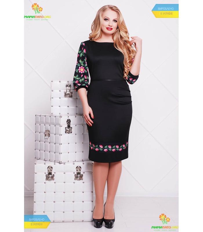 Платье с принтом Андора ПК-BL