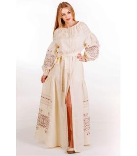 Вишита лляна сукня (мод.0039)