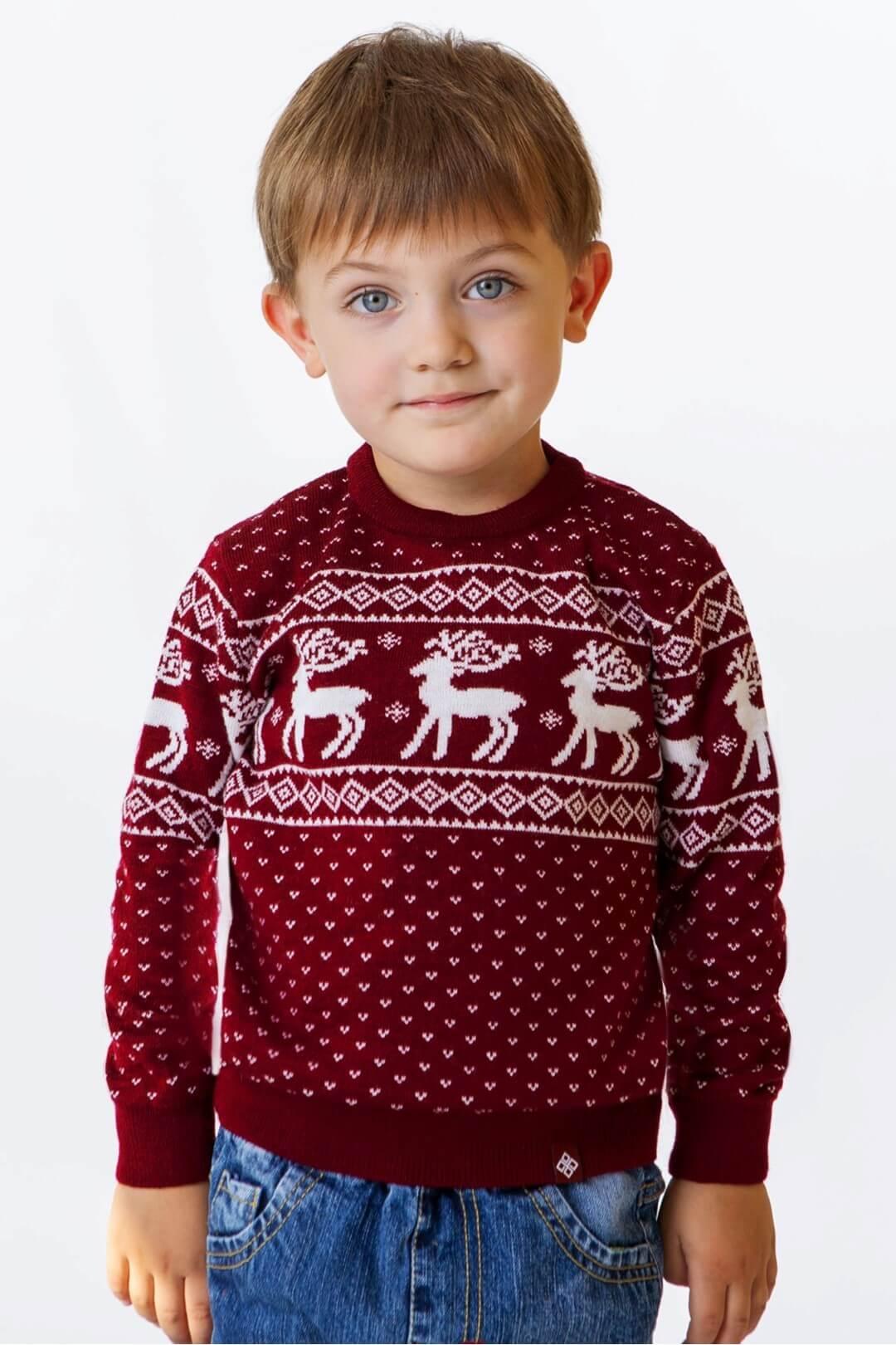 Светр для хлопчика Олені мод.102