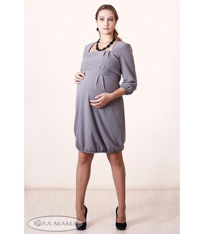 Сукня-балон Enni з рукавом 3/4 з стрейчевой костюмної тканини