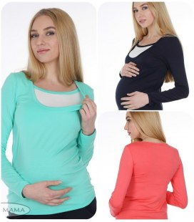 Облягаючий лонгслів для вагітних та для годування  Layma.