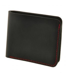 Шкіряне портмоне 4.1 з чотирма кишенями, Графіт-полуниця.