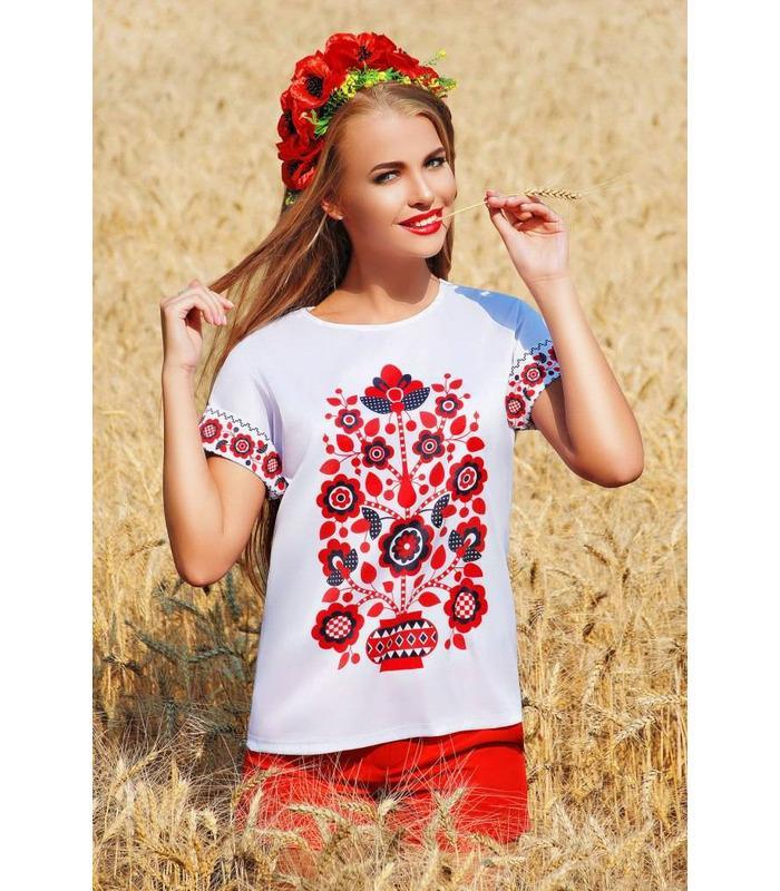 Блуза кімоно 2Н Візерунок квіти.