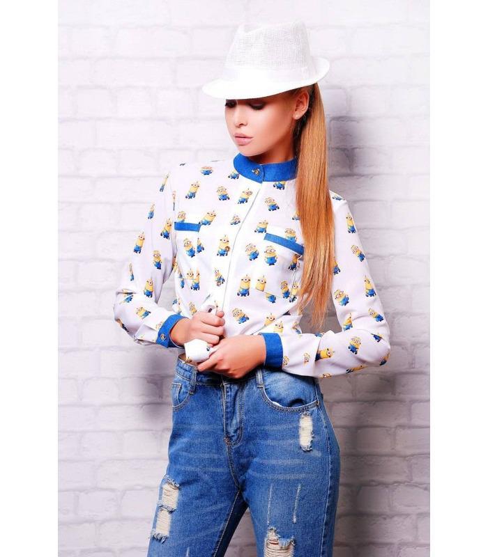 Жіноча молодіжна блузка Міньйон.