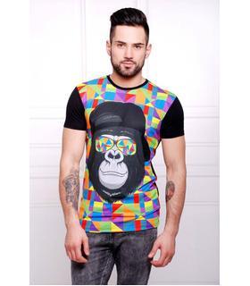 Чоловіча футболка Мавпа в окулярах.