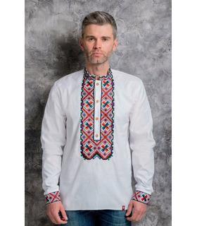 Чоловіча біла вишиванка з натурального льону.