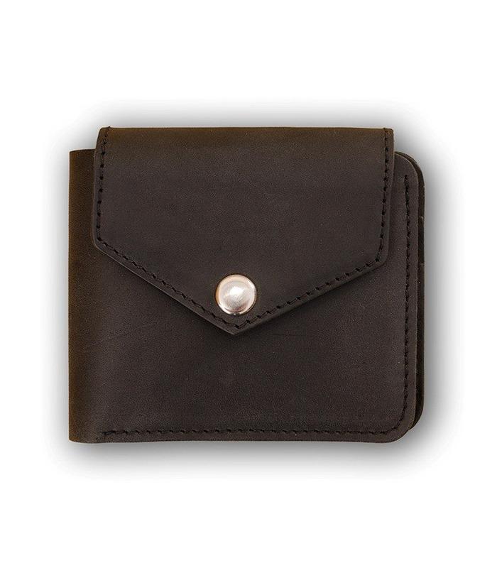 Портмоне 4.2 (4 кармани і на кнопці) Графіт