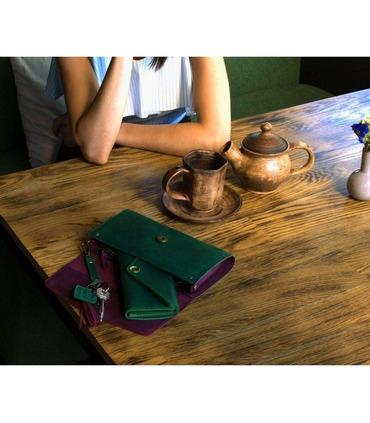 "Жіноча сумка ""Еліс"" (Виноград-Смарагд/Смарагд)."