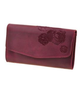 """Жіноча сумка """"Троянди для Еліс"""" (Виноград-Смарагд/Смарагд)."""