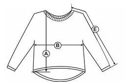 Схема замірів розміру светра