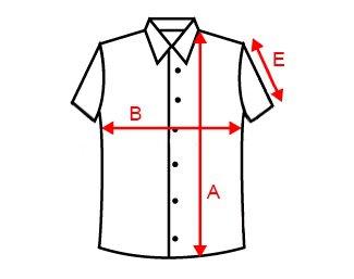 Схема замірів розміру футболки