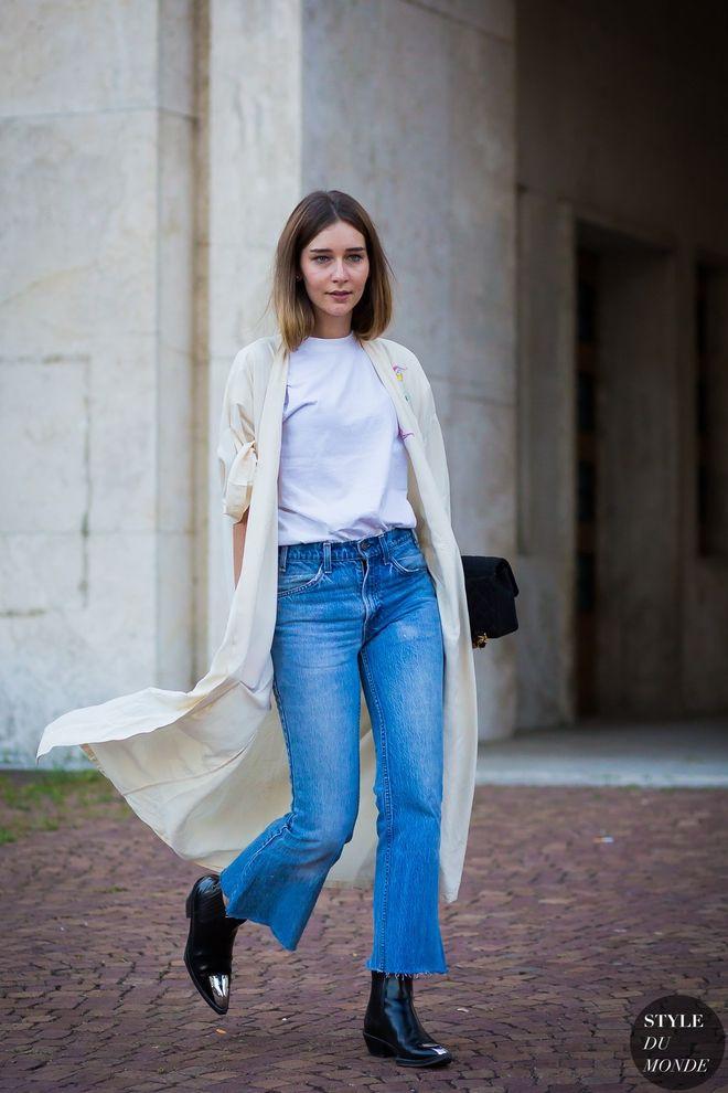 Вибери укорочені джинси. Будь-то скінні або прямий крій.