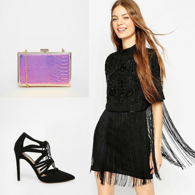 Сукня Asos, клатч New Look, взуття Asos