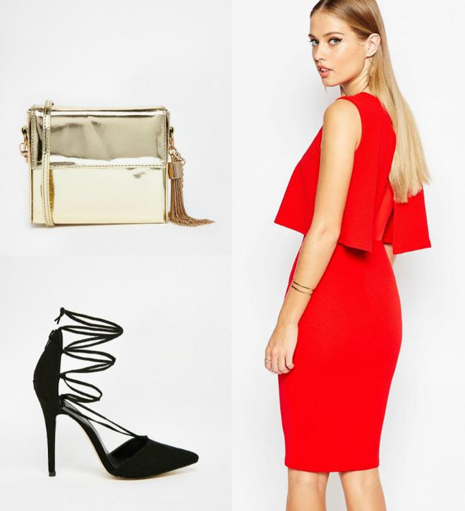 Сукня TFNC, сумка Travolta, взуття New Look